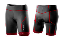 2XU Comp Tri Short Triathlon Kleding Dames rood/zwart